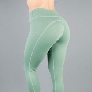 BUFFBUNNY Camila Crop Leggings Sage Green {E41}